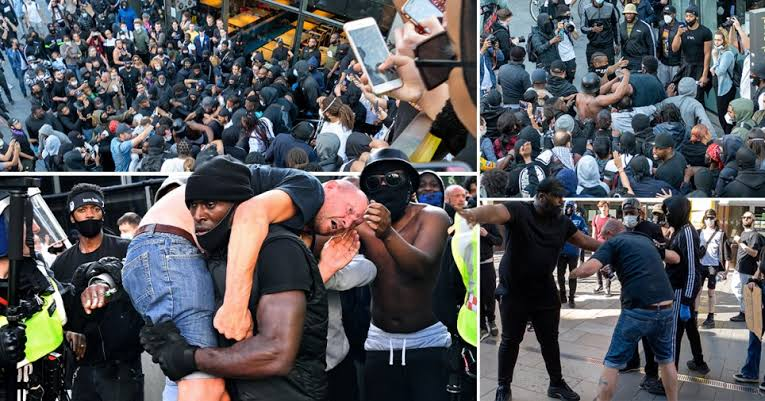Fierce #BLM, #MAGA Supporters Clash