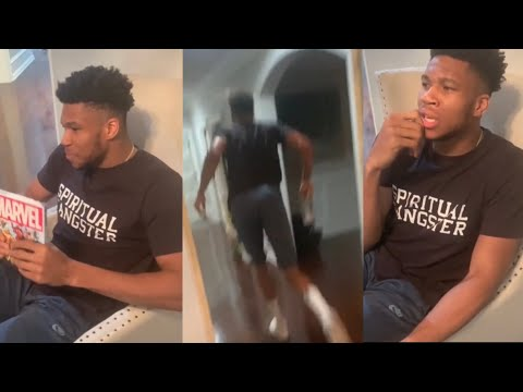 Video: Giannis Antetokounmpo's Funny Dont Leave Me Challenge