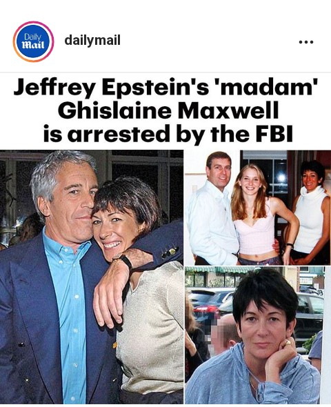 Breaking News&Video: Ghislaine Maxwell, the former girlfriend of Jeffrey Epstein, Arrested