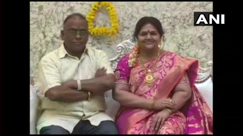 56 year old Gupta gets Life-size Wax Image of Late Wife Madhavi
