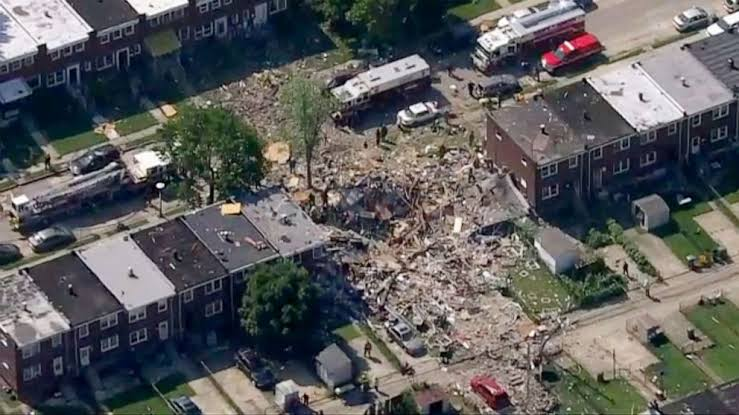Breaking: Baltimore Gas Explosion levels 3 homes, casualties reported