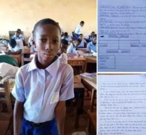 Amazing 15-year-old Ghanian JHS Student wows the internet with beautiful handwriting