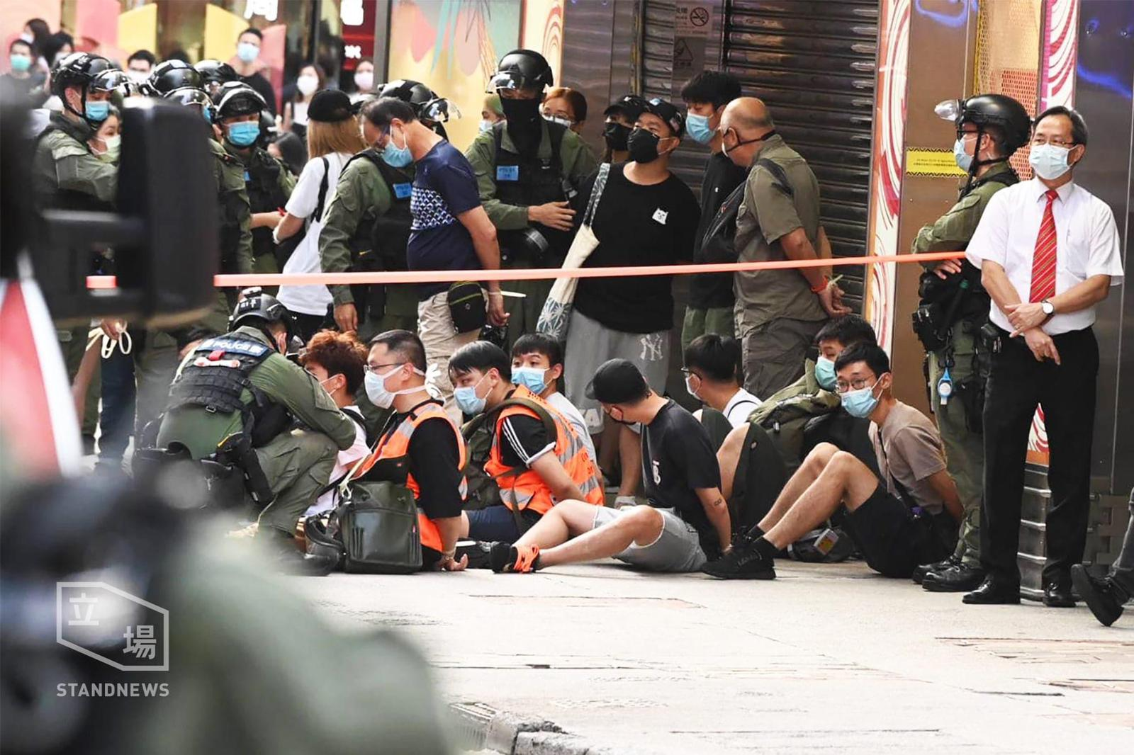 Police fire Pepper Balls on Hong Kong Pro-Democracy Protesters.