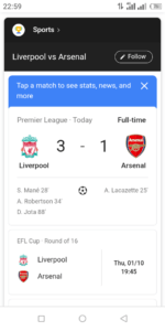 Liverpool 3-1 Arsenal:  Watch all the goals and highlights here (Video)