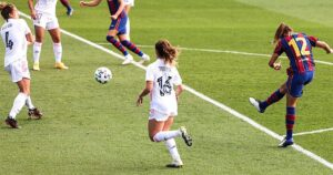 Video: Barcelona Women thrash Madrid Women by 4 goals in first-ever female El Clasico.
