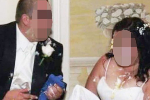 Disaster Groom leaves Bride heartbroken after smashing the ENTIRE top tier of wedding cake in her face at marriage reception (Weird 29)