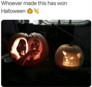 Funny Halloween Pumpkin Carvings: 13 Saturday Good Morning Memes (Halloween 2020)