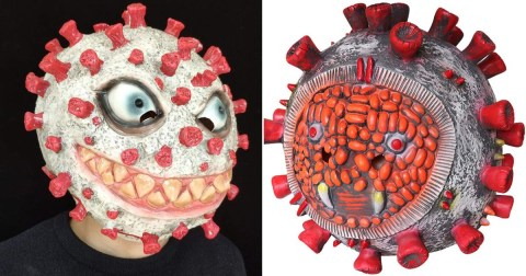 Read more about the article Weird News: Amazon pulls down distasteful Corona Halloween mask and Corona latex horror mask for making light of the covid-19 virus.
