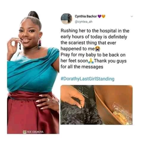 Breaking: BBN finalist Dorathy Bachor rushed to hospital