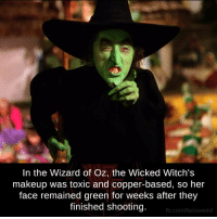 thumb in the wizard of oz the wicked witchs makeup was 13406394