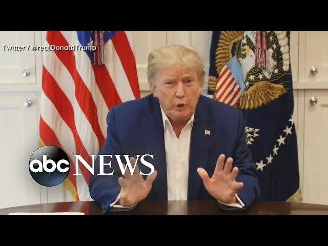 trump posts video message from hospital youtube thumbnail 45077511885474984185