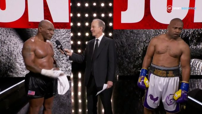 Tyson Vs Jones: Exhibition Fight ends in a draw, Snoop Dogg puts on a show on 28 November Bout [Videos]