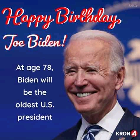 Read more about the article Happy 78th Birthday, President-Elect Joe Biden (37 Happy Birthday Greetings to friends and family)