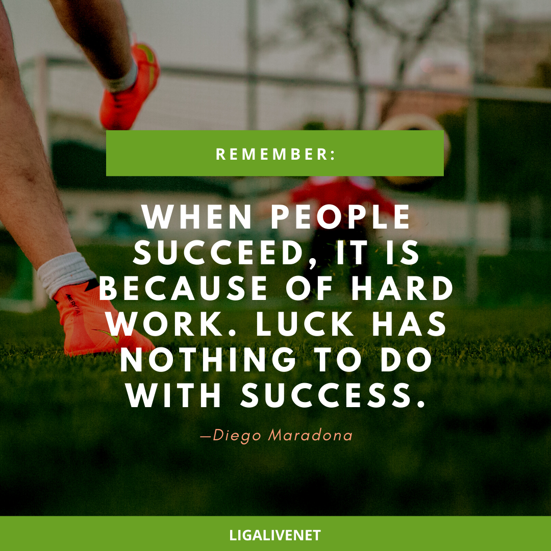 When people succeed it is because of hard work. Luck has nothing to do with success.