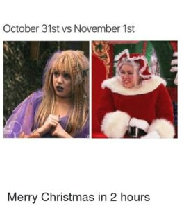 November 1st Memes, November 1st Christmas Memes and Thanksgiving Memes [24 Funny Pictures]