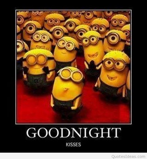 Funny good night memes: Minions 2020