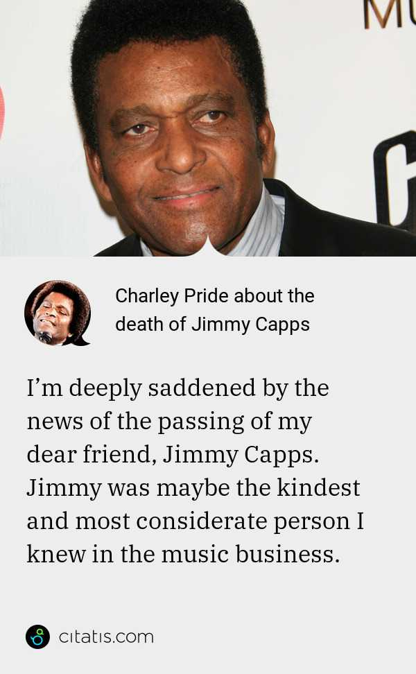Read more about the article 33 Great Quotes by Music Legend Charley Pride, who passed on at age 86