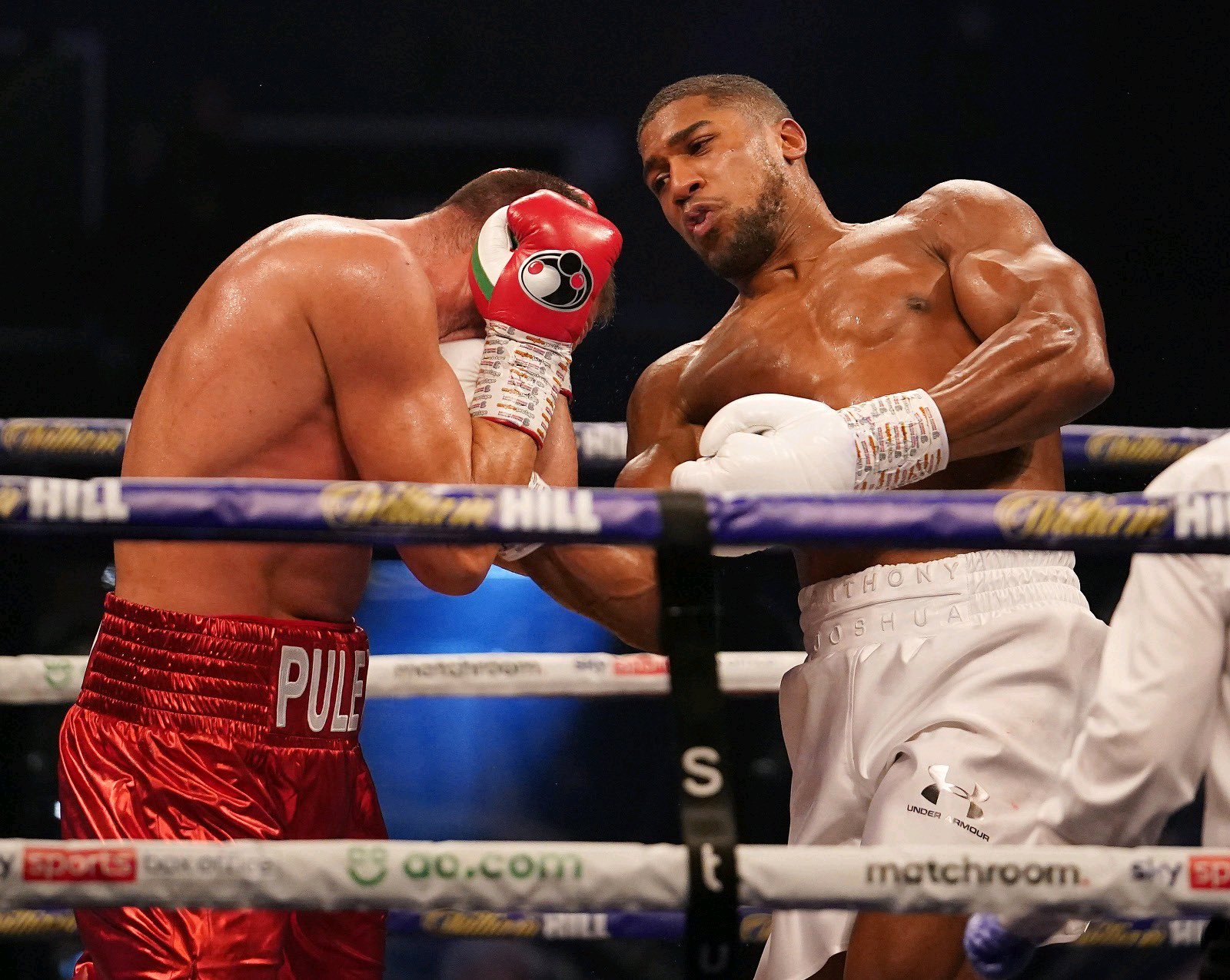 Anthony Joshua defeats Kubrat Pulev in 9 rounds to  retain his IBF, WBA and WBO belts With a KO#JoshuaPulev (videos)