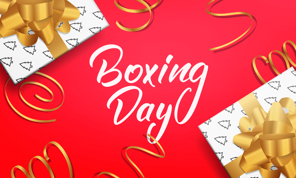 Boxing Day. Banner with Boxing Day lettering