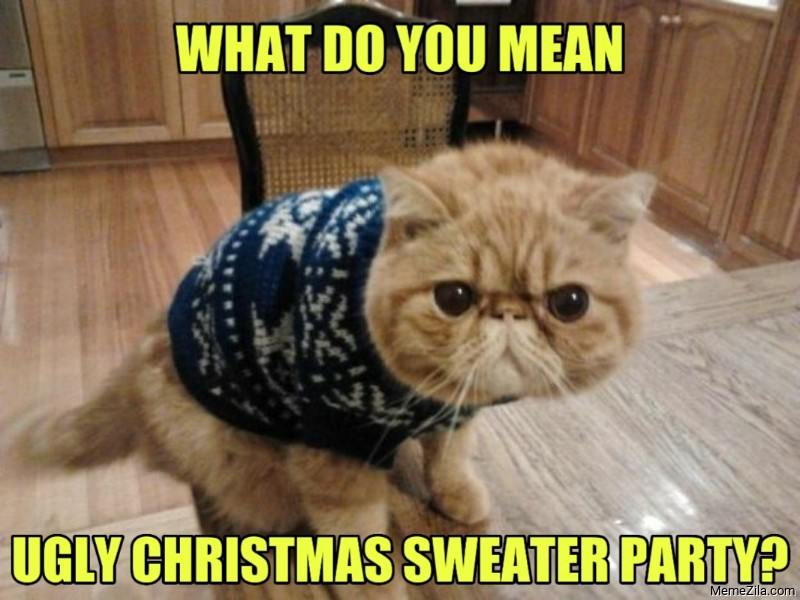 What do you mean Ugly sweater christmas party meme 8815
