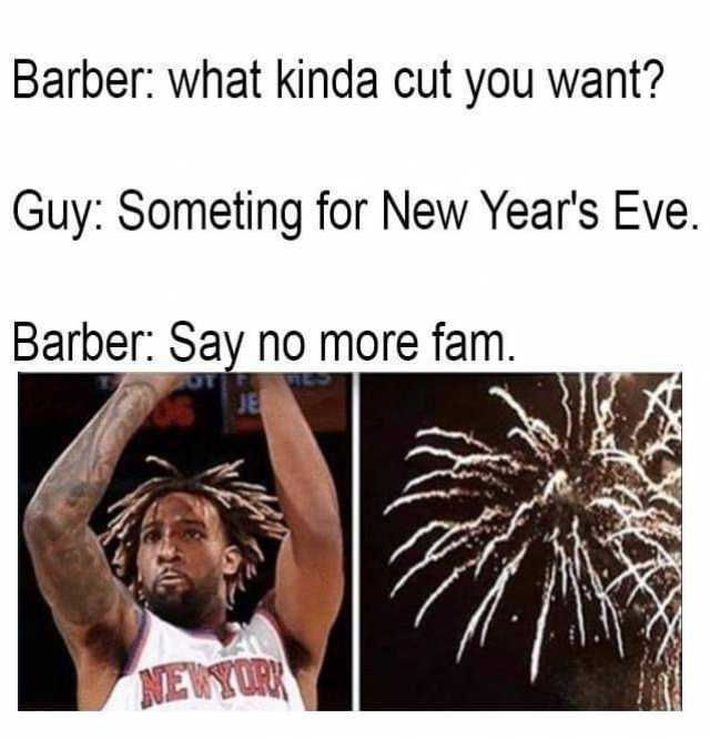 barber what kinda cut you want guy someting for new years eve barber say no more fam je newyork kjTpq