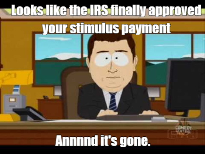 irs stimulus check funny memes 2020