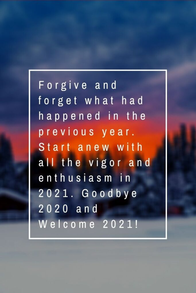 good bye 2020 welcome 2021