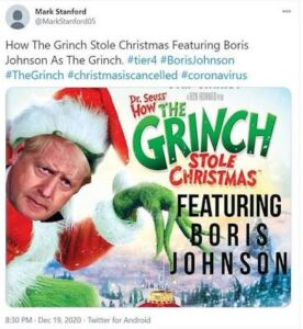 How the Grinch stole Christmas, starring Boris Johnson Christmas Grinch (8 funny memes)