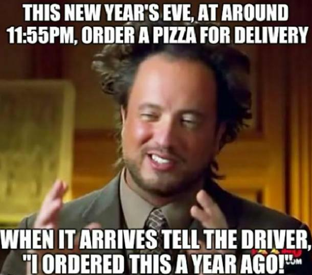 pizza funny new year meme