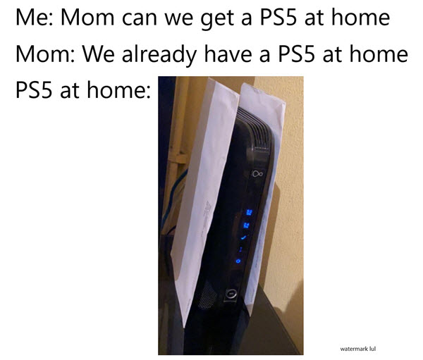 playstation 5 at home meme