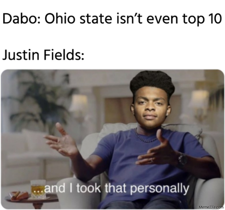 Dabo Ohio state isnt even top 10 Meanwhile Justin Fields meme 9037