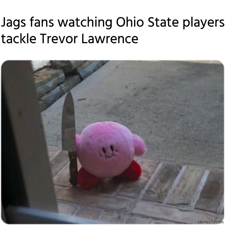 Jags fans watching Ohio State players tackle Trevor Lawrence meme 9028