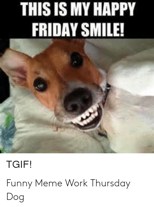 this is my happy friday smile tgif funny meme work 52401843