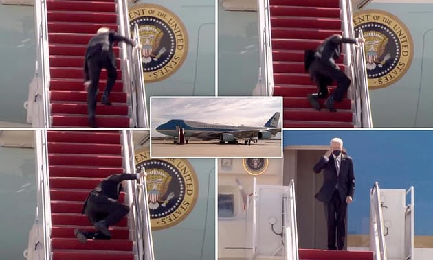 Read more about the article Twitter reacts to Biden fall (Videos and 5 funny memes)