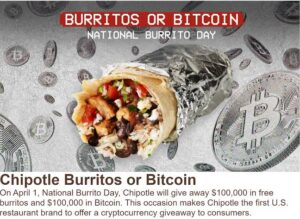 How to Win your free Burritos or Bitcoin from Chipotle on April 1 (Funny Food Memes)