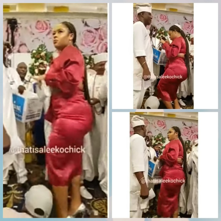 Read more about the article Similoluwa, Sister Of Ooni's Wife, causes a scene as she shows huge backside while dancing at Royal Event